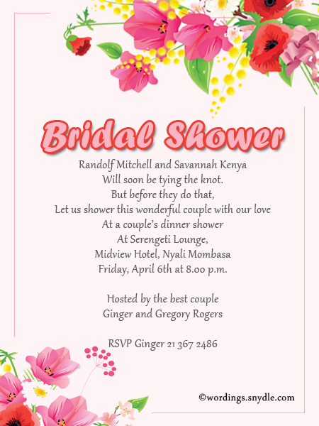Bridal shower invitation wordings wordings and messages 10 bridal shower invitation wordings filmwisefo
