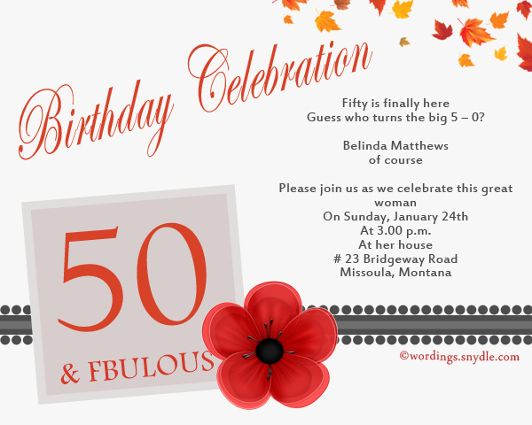 50th birthday invitation wording samples wordings and messages 50th birthday celebration invitation cards stopboris Choice Image