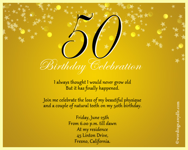 50th birthday invitation wording samples wordings and messages 50th birthday celebration invitation stopboris Images