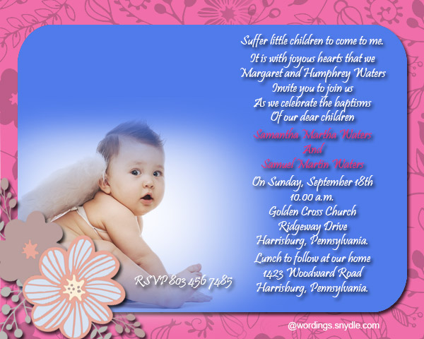 Baptism invitation wording samples wordings and messages baptism invitation cards 05 stopboris Image collections