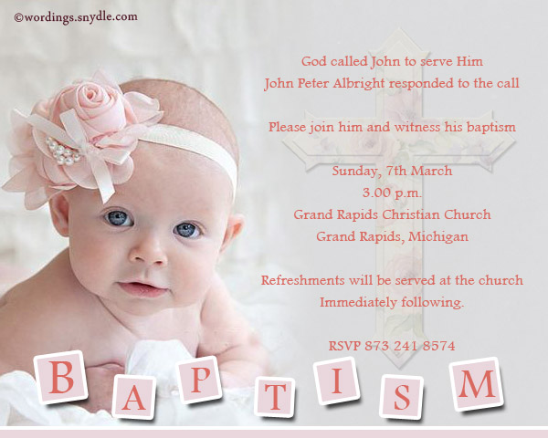Baptism invitation wording samples wordings and messages baptism invitation greetings stopboris Image collections