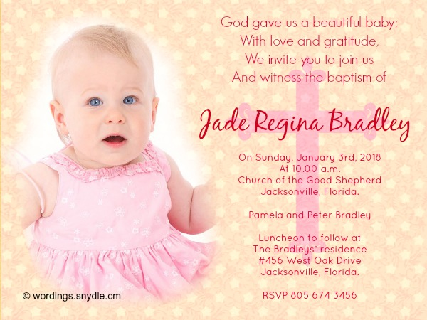 Baptismal Invitation Message was luxury invitation design