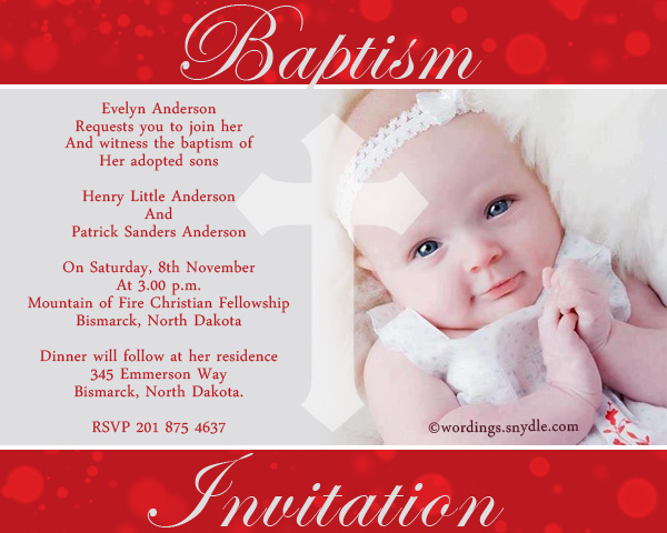Baptism invitation wording samples wordings and messages baptism invitation wordings sample stopboris Images