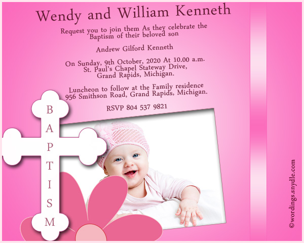 Baptism invitation wording samples wordings and messages baptism invitation wordings stopboris Gallery