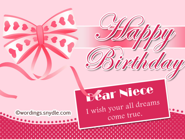 Happy birthday wishes for niece niece birthday messages wordings happy birthday dear niece m4hsunfo