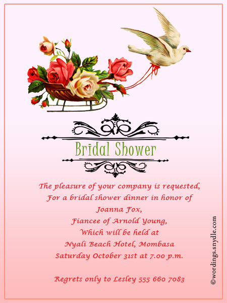 Bridal shower invitation wordings wordings and messages bridal shower invitation wording 2 filmwisefo