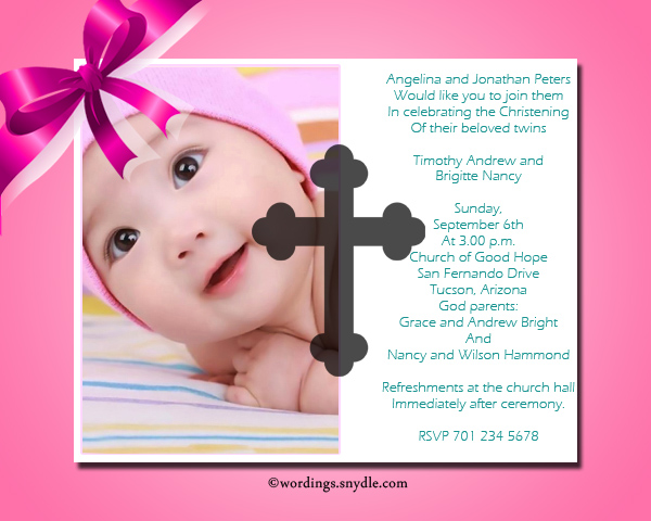Christening invitation wording samples wordings and messages christening invitation cards stopboris Gallery
