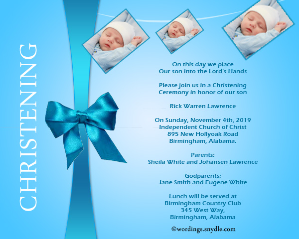 Christening invitation wording samples wordings and messages christening invitation wordings sample stopboris Choice Image