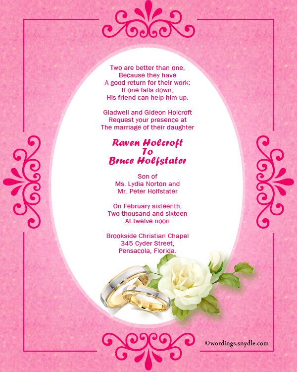 Christian wedding invitation wording samples wordings and messages christian invitation wordings for wedding filmwisefo