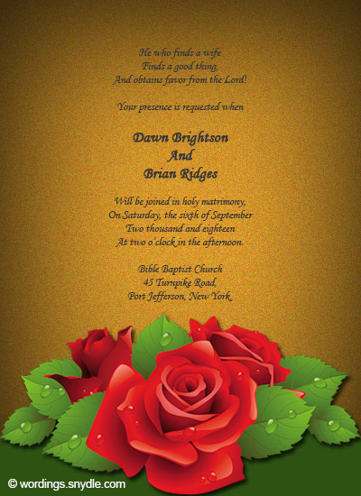 Christian wedding invitation wording samples wordings and messages christian wedding invitation wording samples 02 m4hsunfo