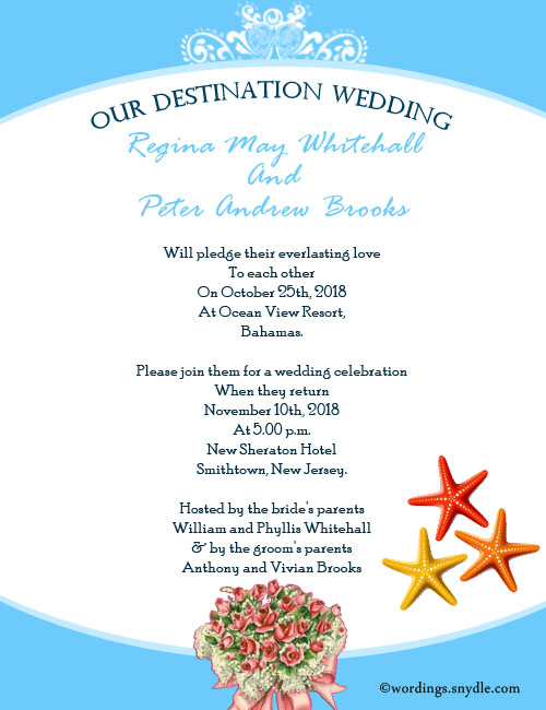 Destination wedding invitation wording samples wordings and messages destination wedding invitation cards filmwisefo
