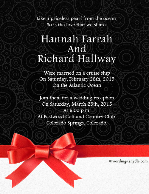 Destination Wedding Invitation Wording Samples - Wordings and Messages