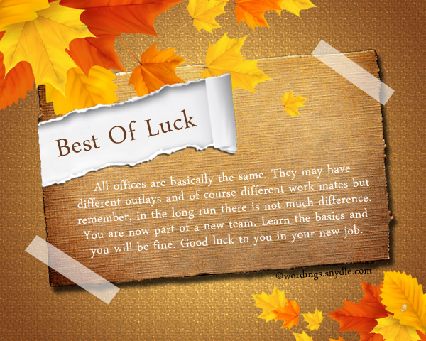 Good luck messages and wishes wordings and messages