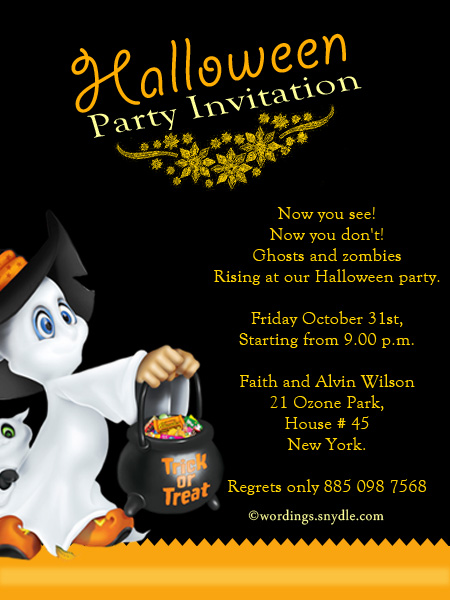 Halloween party invitation wording wordings and messages halloween invitation cards stopboris Images