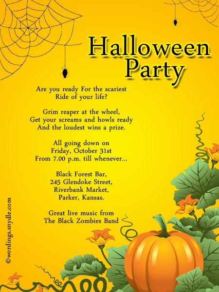 halloween party invitation wording wordings and messages ForHow To Have A Great Halloween Party