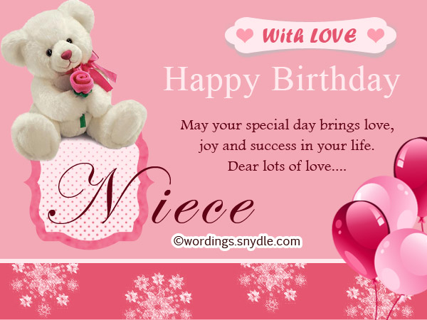 Happy Birthday Wishes for Niece