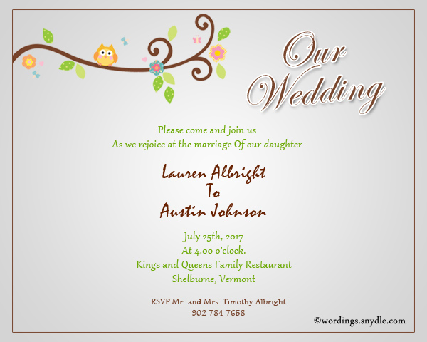 Wedding Invitation Workding: Informal Wedding Invitation Wording Samples