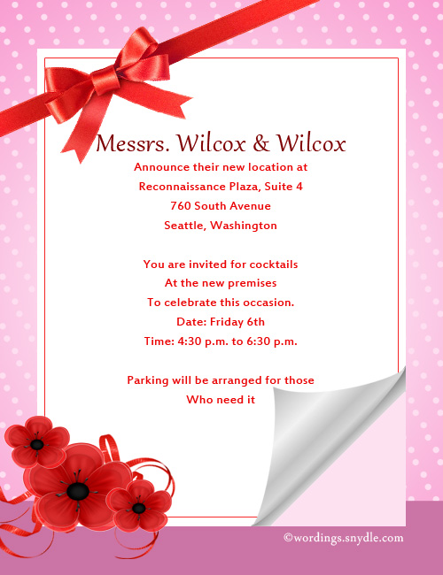 Open House Invitation Wording Samples - Wordings and Messages