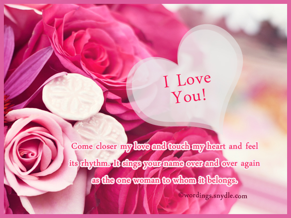 Romantic love messages for my love