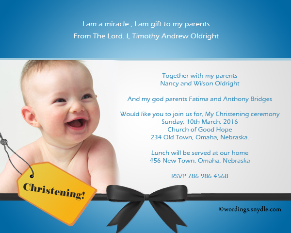 Christening invitation wording samples wordings and messages sample invitation wordings for christening stopboris Images