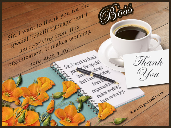Thank You Notes For Boss To Support  Thank You Letter To Boss