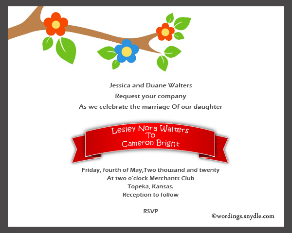 Informal wedding invitation wording samples wordings and messages informal wedding invitation wording sample 2 stopboris Images