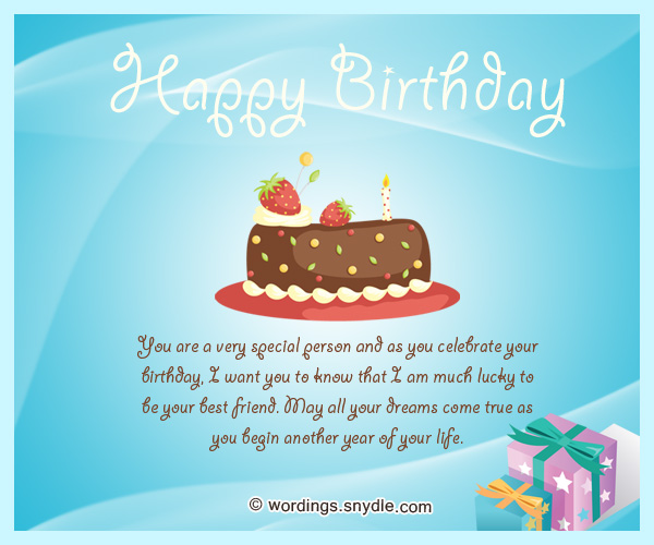 Happy Birthday Messages for Bestfriend Wordings and Messages – Best Friend Birthday Card