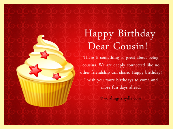 Birthday Wishes For Cousins ~ Birthday wishes for cousin wordings and messages