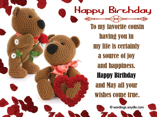 Birthday wishes for cousin wordings and messages birthday greetings for cousin m4hsunfo