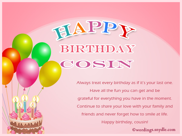 Birthday wishes for cousin wordings and messages birthday wishes for cousin m4hsunfo