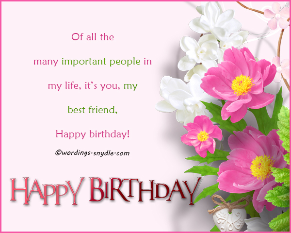 Birthday wishes for best friend forever wordings and messages happy birthday messages for my best friend m4hsunfo