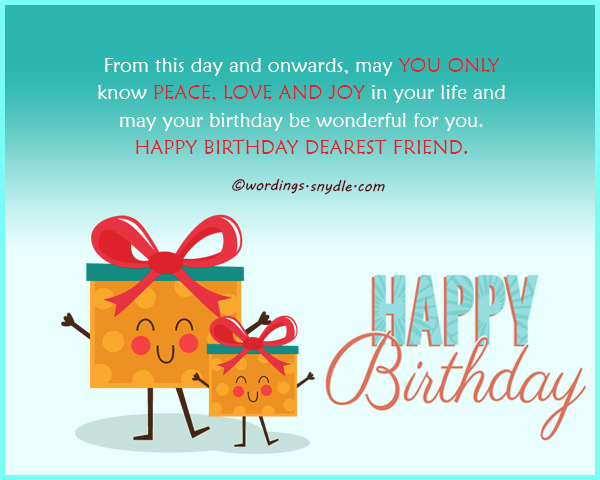 birthday wishes for best friend forever   wordings and