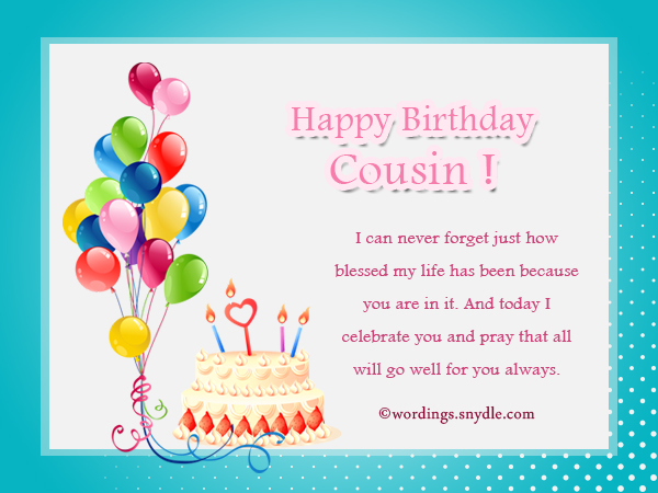 Birthday Wishes For Cousin Wordings And Messages Happy Birthday Wishes Cousin