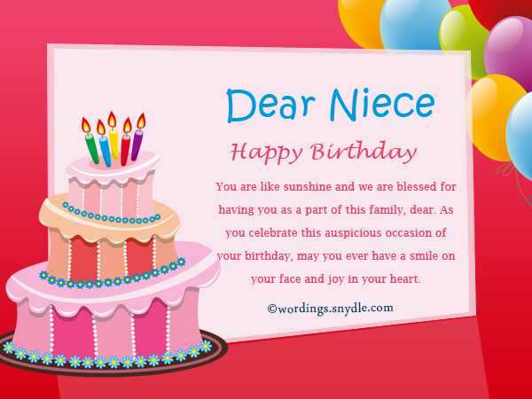 Happy Birthday Wishes For Niece Niece Birthday Messages Happy Birthday Niece Wishes