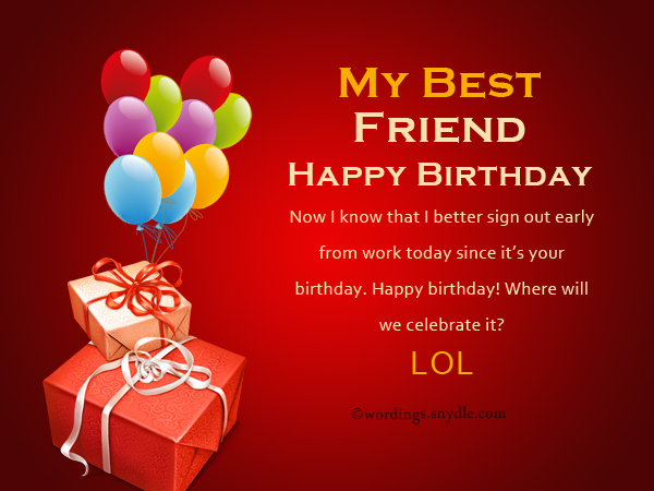 Birthday wishes for best friend forever wordings and messages cool happy birthday wishes for a best friend m4hsunfo