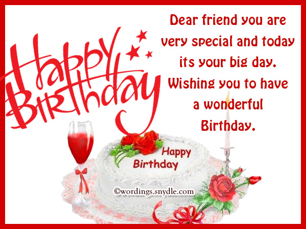 Happy Birthday Messages For Bestfriend Wordings And Messages Happy Birthday Friend Wishes