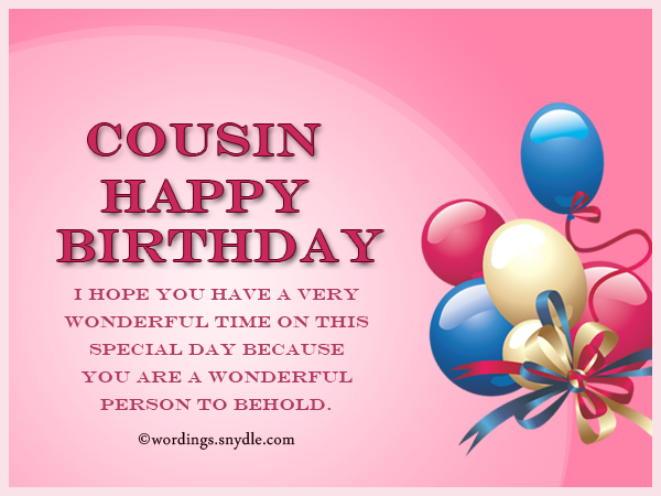 Birthday Wishes For Cousin Wordings and Messages – Happy Birthday Cousin Card