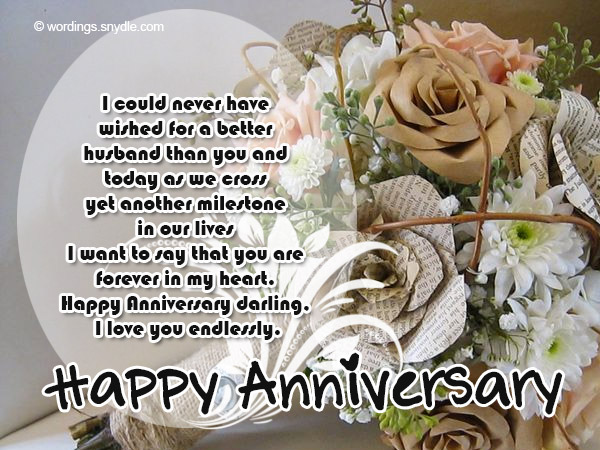 Wedding Anniversary Messages Wishes And Wordings Wordings And Messages