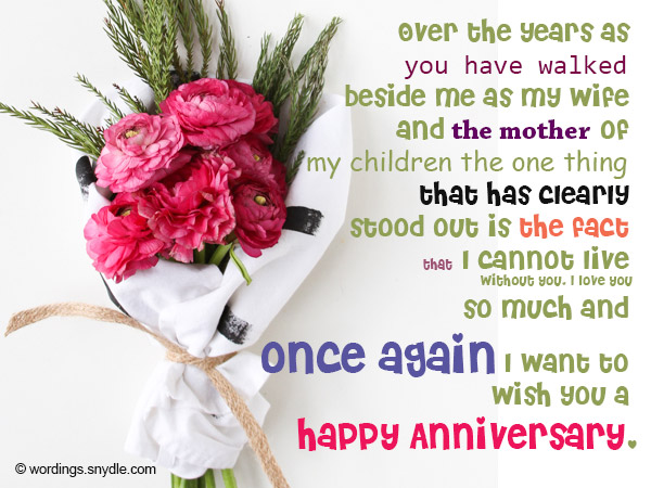 Wedding anniversary messages wishes and wordings wordings and wedding anniversary messages for couples 10 m4hsunfo