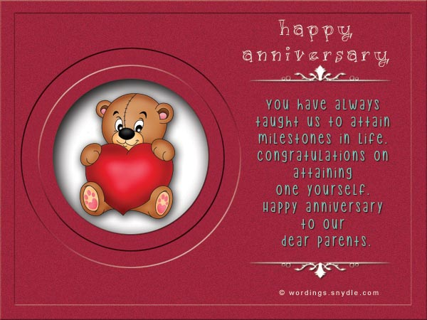 Wedding anniversary messages for parents wordings and messages anniversary cards for parents m4hsunfo
