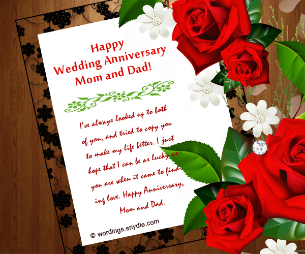 wedding anniversary messages for parents   wordings and