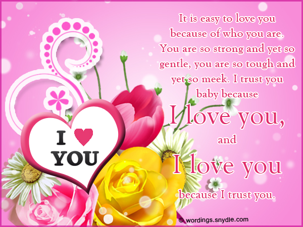 Sweetest i love you message