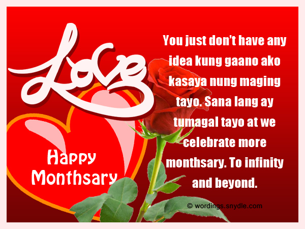 Monthsary message for long distance relationship