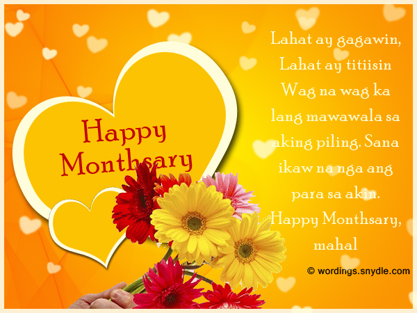 Tagalog monthsary messages wordings and messages tagalog monthsary messages m4hsunfo