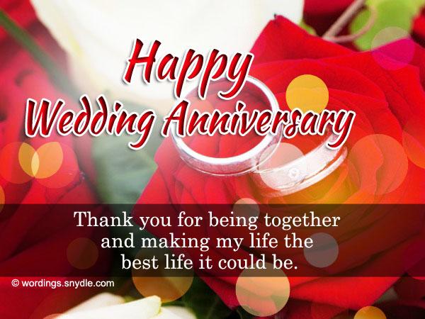Samples Of Wedding Anniversary Messages