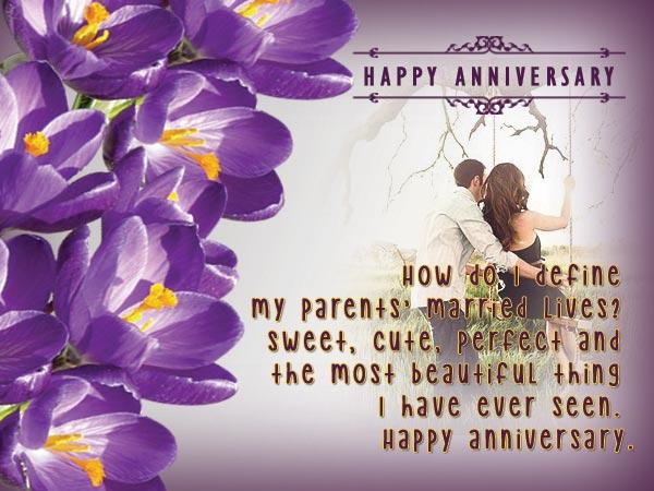 Wedding anniversary messages for parents wordings and messages wedding anniversary greetings for parents m4hsunfo