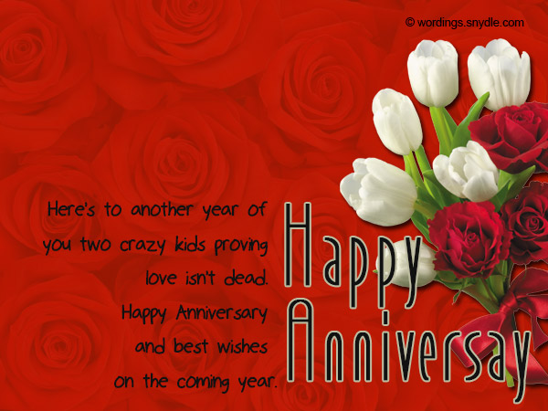 wedding anniversary messages for couples 01 Wedding Anniversary Messages Wishes and Wordings