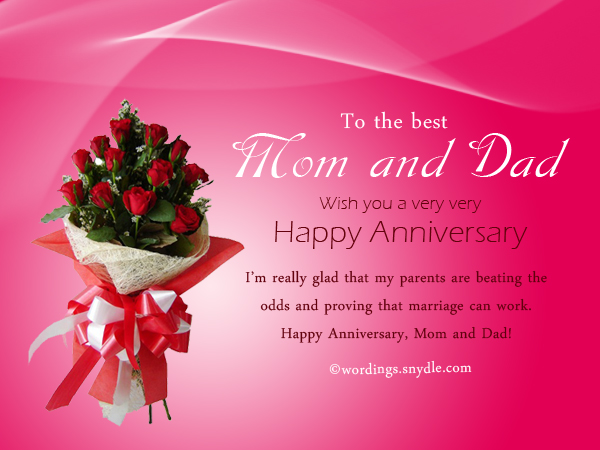 Wedding Anniversary Gift For Parents Online : Wedding Anniversary Messages for Parents - Wordings and Messages