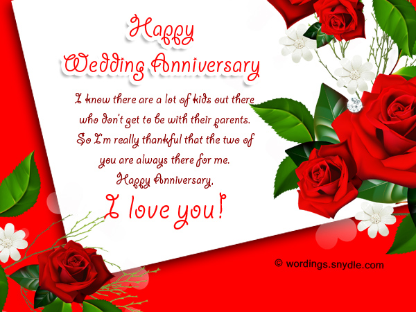 Wedding anniversary messages for parents wordings and messages wedding anniversary messages m4hsunfo