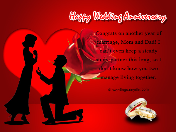 wedding anniversary messages for parents wordings and messages